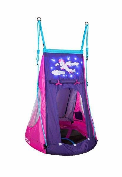 Huśtawka gniazdo z namiotem Hudora Pony LED 90 (72149)