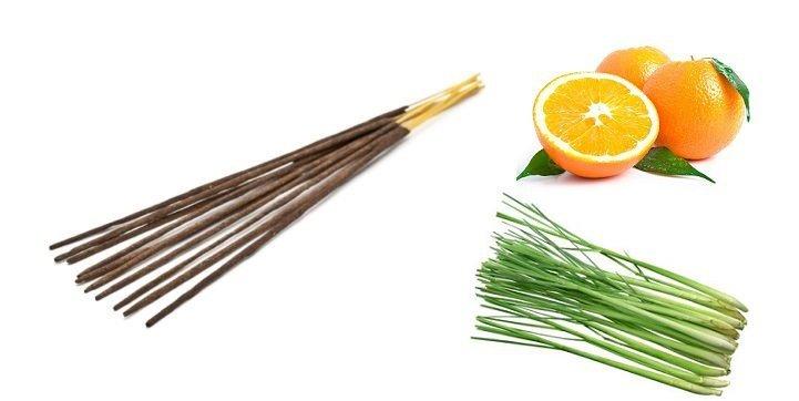 Kadzidełka Aromatyczne Pomarańcza i Trawa Cytrynowa, 100% Naturalne Aromatika