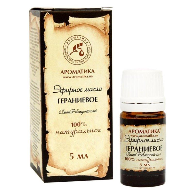 Olejek Geraniowy, 100% Naturalny, Aromatika, 5ml