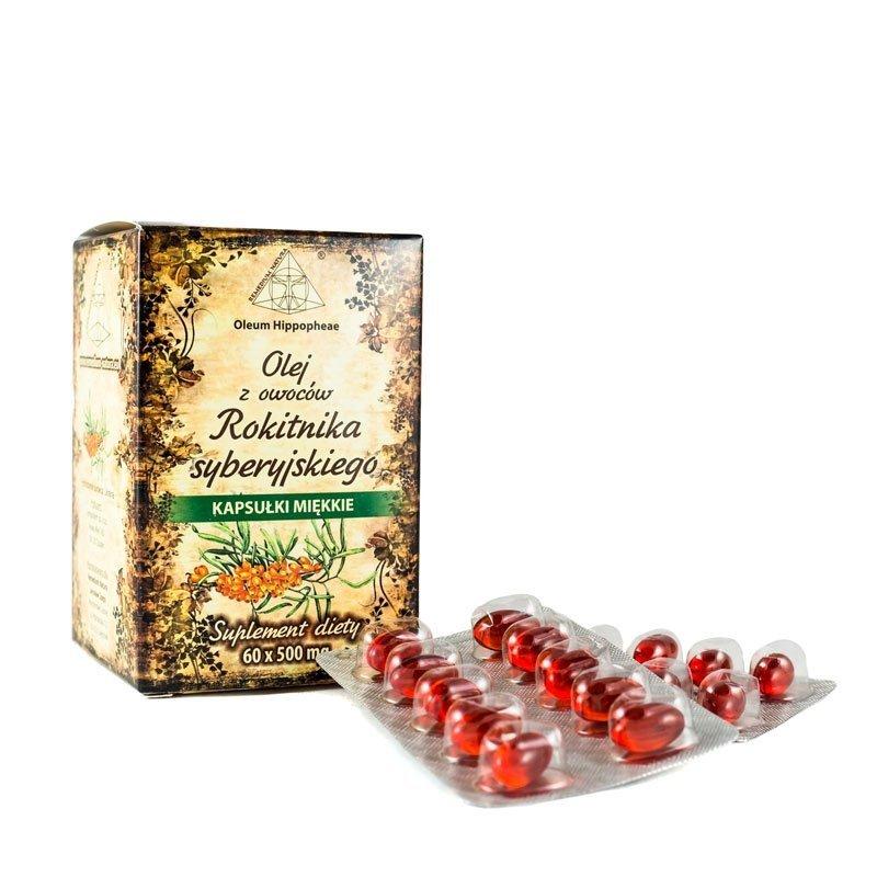 Olej z Owoców Rokitnika, Suplement Diety, 60 kapsułek