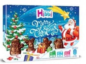 Hibbi praliny z czekolady mlecznej kształty świąteczne 100g