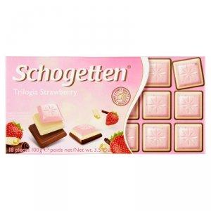 Schogetten Trilogia Czekolada o smaku truskawkowym 100 g