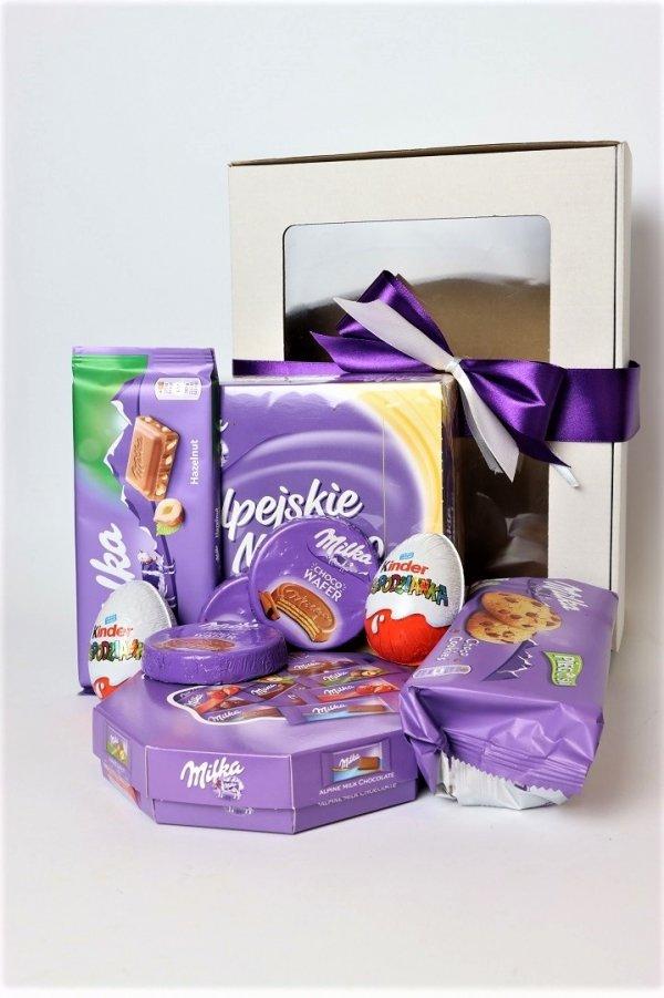 Box prezent słodyczy Milka dla dzieci