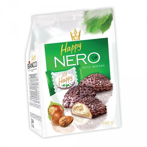 HAPPY NERO NUTS ORZECHOWE FLIS 140G