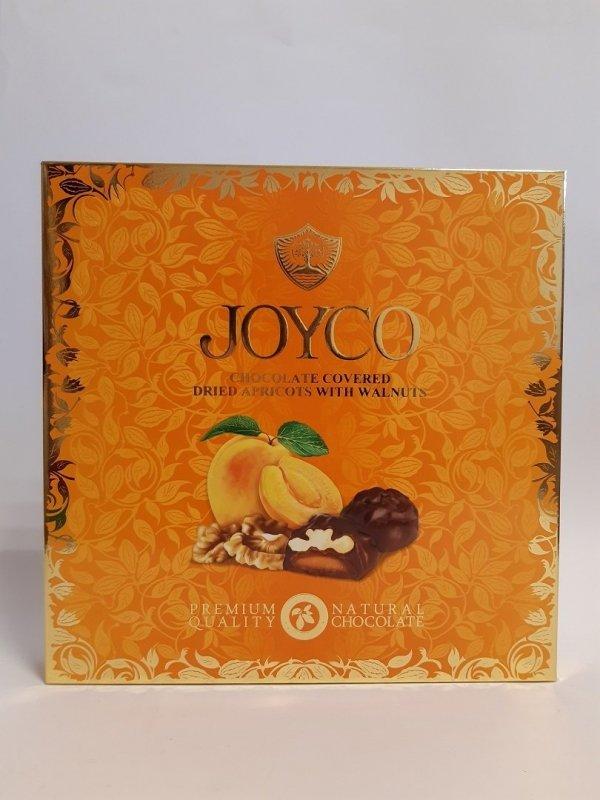 Joyco suszone morele w czekoladzie z orzechami włoskimi 200g 9szt