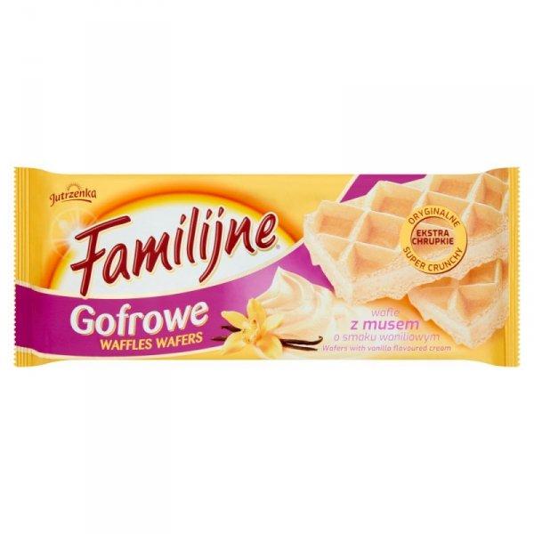 Familijne Gofrowe wafle z musem o smaku waniliowym 130 g