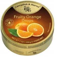 Landrynki Cavendish Orange Dropsy o smaku pomarańczy 200g