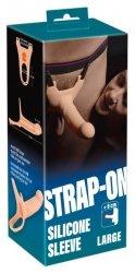 Silikonowy Strap-on +6cm