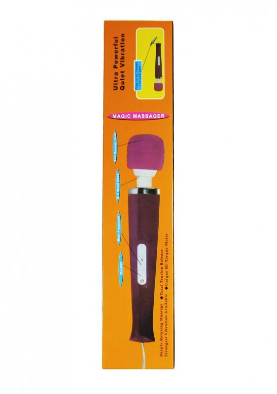 Stymulator-Magic Massager Wand Kabel 220 Black