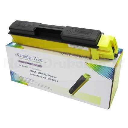 Toner Cartridge Web Yellow Kyocera TK580 zamiennik TK-580Y