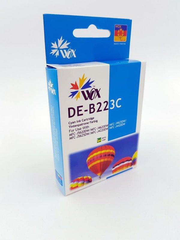 Tusz Wox Cyan Brother LC 223C  zamiennik LC223C   (950 stron A4 zgodnie z normą ISO/IEC 24711)