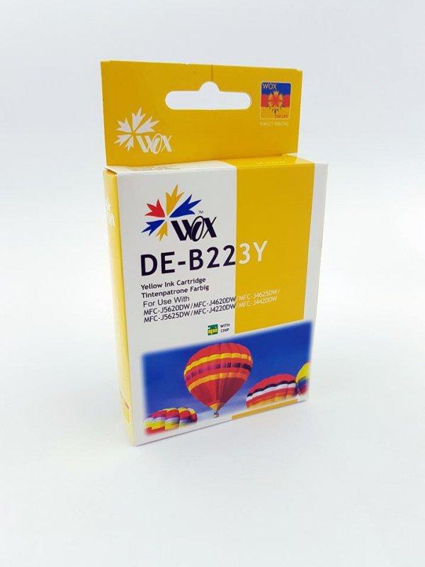 Tusz Wox Yellow Brother LC 223Y  zamiennik LC223Y  (950 stron A4 zgodnie z normą ISO/IEC 24711)