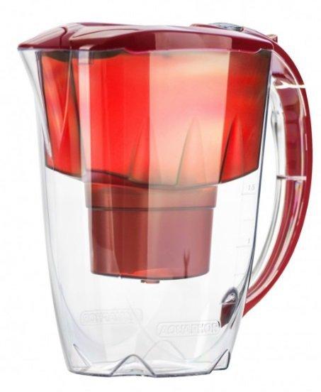 Dzbanek AQUAPHOR Amethyst + wkład B100-25 Maxfor (2,8 litra; kolor czerwony)