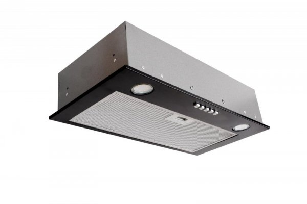 Okap podszafkowy do zabudowy CIARKO SL-BOX 60 Czarny (600mm; kolor czarny)