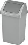 Kosz uchylny srebrny/grafit CLICK-IT 50L CURVER 04045-877-65