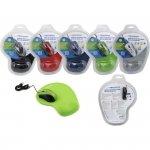 Zestaw mysz z podkładką żelową zielona ESPERANZA EM125G