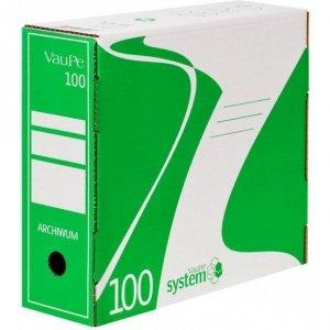 Pojemnik do archiwizacji A4/10cm 435/06 zielony VAUPE