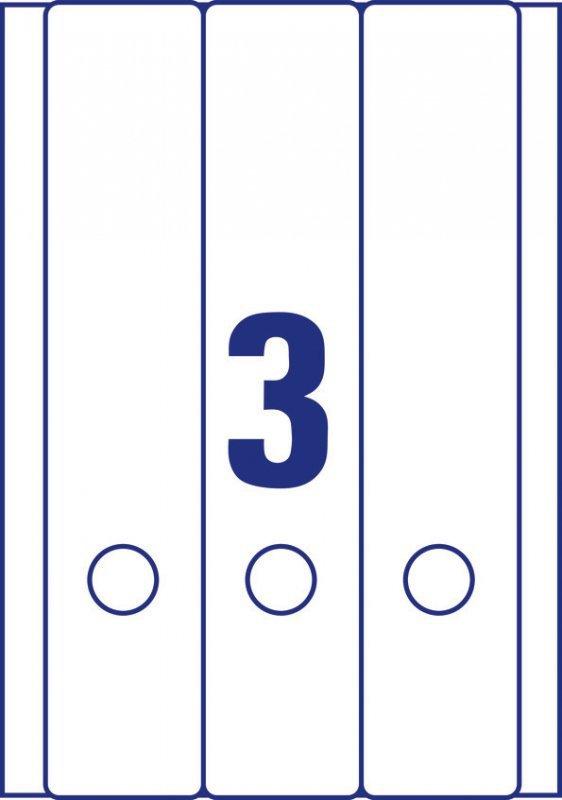 Etykieta A4 na segregator 59x297mm 25ark L6059-25 AVERY ZWECKFORM
