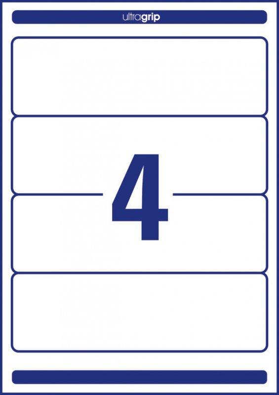 Etykiety ZF 192*61 4761(100) LK na segregator AVERY ZWECKFORM
