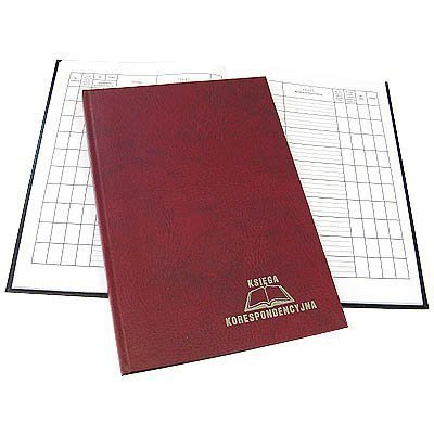 Książka korespondencyjna A4 96k bordowa 229-007 WARTA