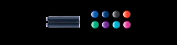 Naboje krótkie fioletowe TP/6 301697 PELIKAN