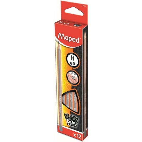 Ołówek drewniany Blackpeps H MAPED 850025