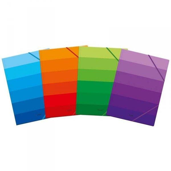 Teczka kart.z gumką C4 OMBRE fiolet 400104152 TOP 2000
