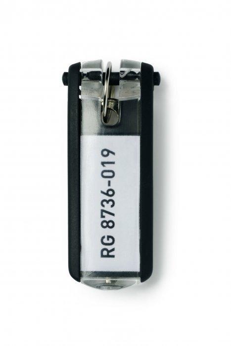 Zawieszki do kluczy (6szt.) czarne 195701 DURABLE KEY CLIP