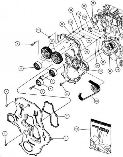 Koło zębate wałka rozrządu 5066926AA Chrysler Voyager RG 2.8CRD 2001-2007