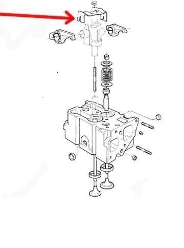 Mocowanie dżwigienek zaworowych 4863861 Voyager 96-00 2,5 td