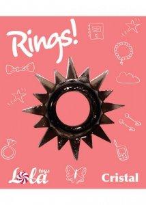 Pierścień-Cockring Rings Cristal black