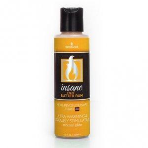 Żel nawilżający stymulujący - Sensuva Insane Arousal Glide Hot Butter Rum 125 ml