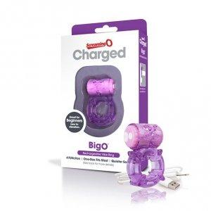 Pierścien na penisa - The Screaming O Charged Big O Purple