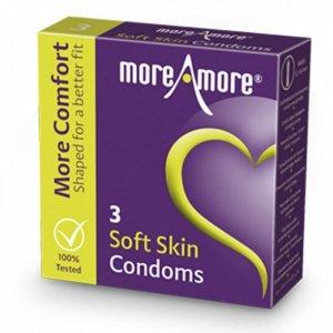 Prezerwatywy - MoreAmore Condom Soft Skin 3 szt