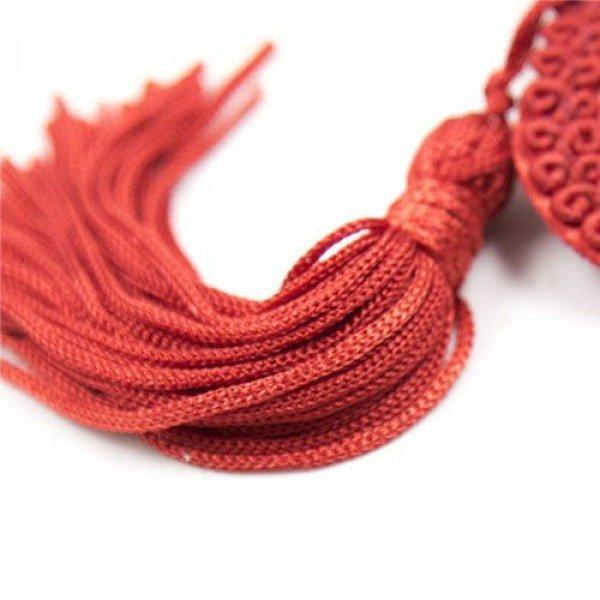 Bielizna-Heart Nipples Tassels RED