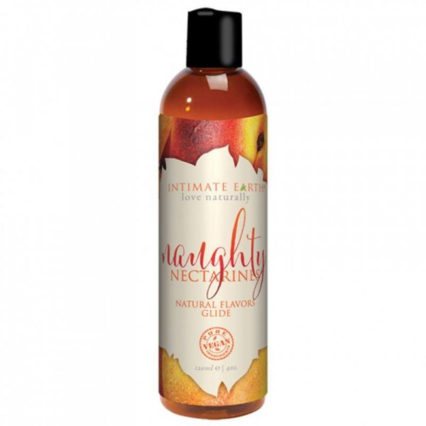 Środek nawilżający - Intimate Earth Natural Flavors Glide Naughty Nectarines 120 ml