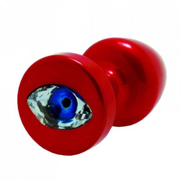 Korek analny ozdobny - Diogol Anni R Eye Red Crystal Red 25 mm