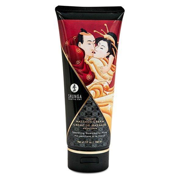 Krem do masażu - Shunga Massage Cream Strawberry 200 ml