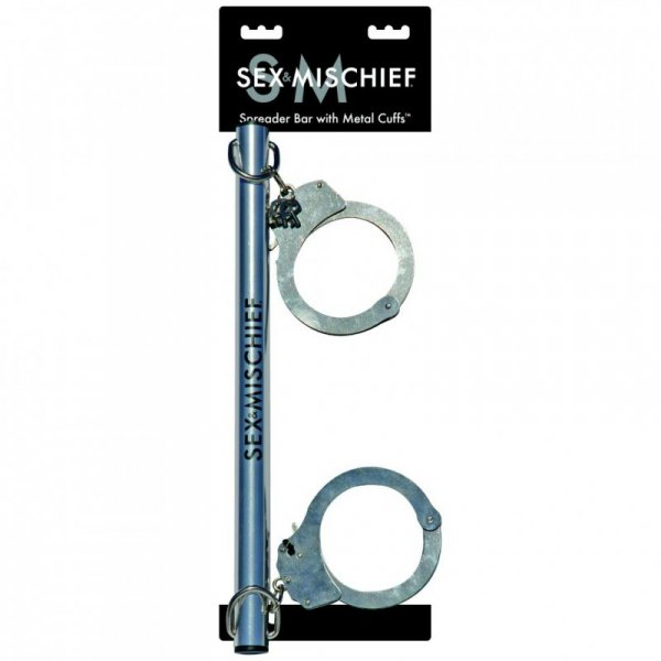 Drążek - S&M Spreader Bar with Metal Cuffs