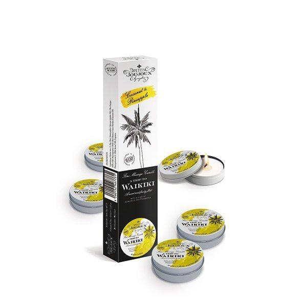 Świeca do masażu - Petits Joujoux Massage Candle Waikiki 33 gram 5szt