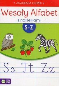 Wesoły alfabet z naklejkami S-Z