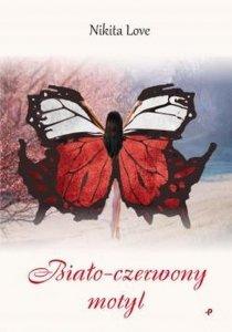 Biało-czerwony motyl