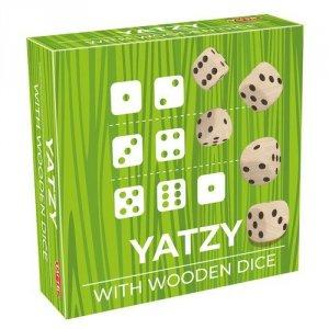 Gra w kości Yatzy drewniane kostki