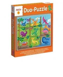 Ludattica Legno Puzzle-Duo Dinosaurs