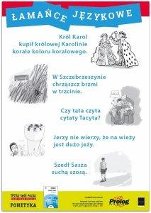 Plakat edukacyjny Fonetyka. Łamańce językowe