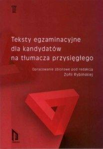Teksty egzaminacyjne dla kandydatów na tłumacza przysięgłego