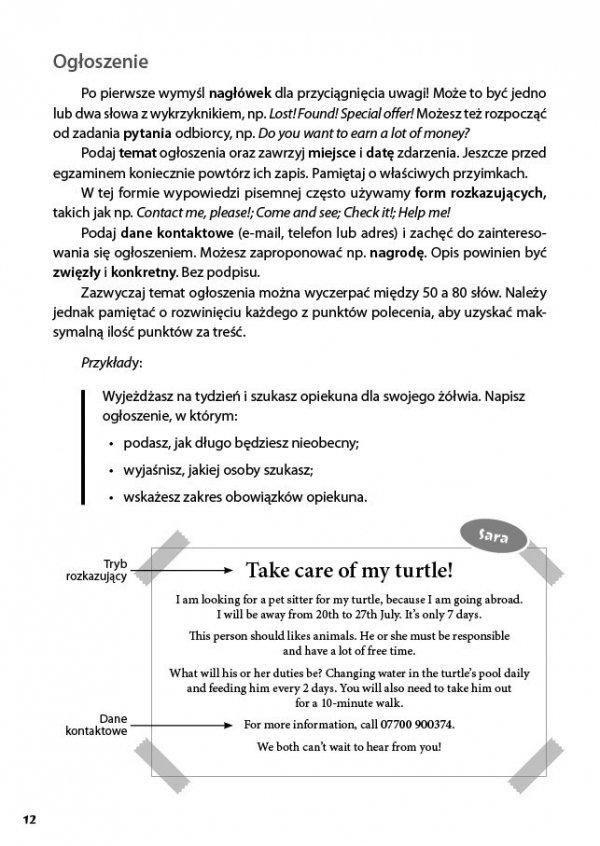 Język angielski. Pomocnik 8-klasisty. Wypowiedź pisemna
