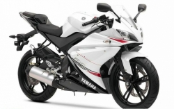 2011 Yamaha YZF-R125 BLUISH WHITE COCKTAIL