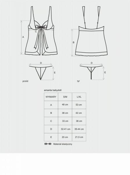 Bielizna Amanta koszulka i stringi L/XL