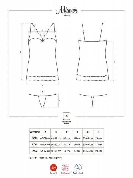 Bielizna Miamor koszulka i stringi XXL